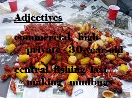 crawfish adjectives