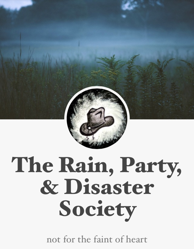 rain party and disaster society